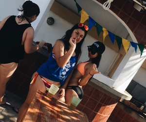 beer, summer, and bikiniseason image