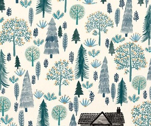 wallpaper, tree, and house image