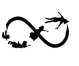 peter pan, infinity, and disney image