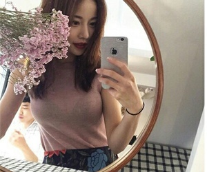 ulzzang, aesthetic, and flowers image