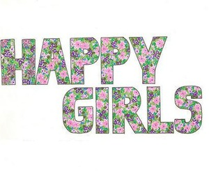 girls, happy, and lovely image