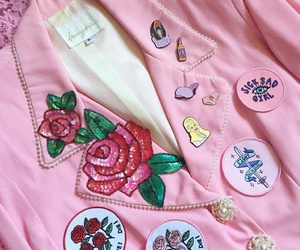 pink, clothes, and patch image