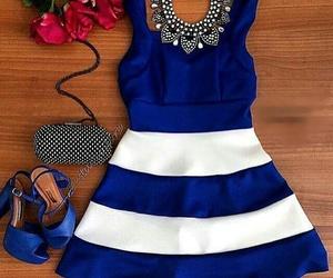 dress, blue, and moda image