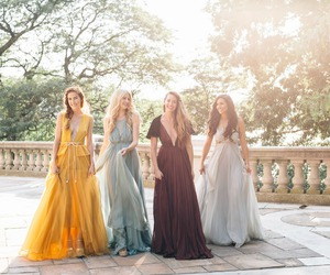amber, long dress, and blonde image