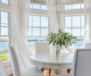 beach, flowers, and home image
