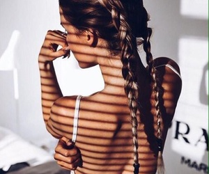aesthetic, braids, and beauty image