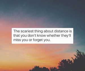 distance, Relationship, and missing someone image