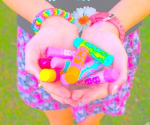 aesthetic, bright, and colorful image