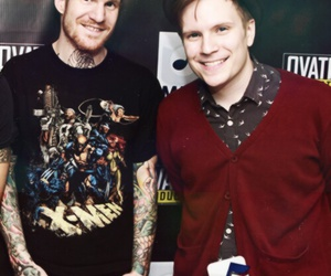 patrick stump, andy hurley, and fall out boy image
