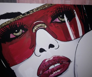 aaliyah, art, and gold image