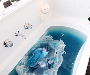 blue, bath, and water image