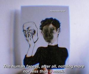 mask, grunge, and sad image