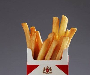 cigarettes, food, and French Fries image