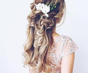 clothes, hair, and long hair image