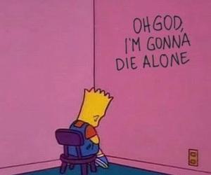 alone, sad, and simpsons image