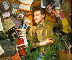 morrissey, oscar wilde, and books image