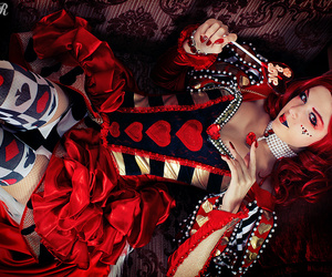 red, cosplay, and hearts image