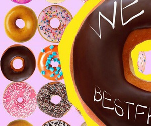 wallpaper, friends, and donuts image