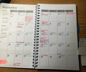 calendars, school, and studying image