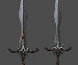 art, fantasy, and weapon image