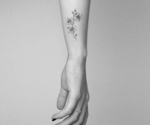flower, orchid, and tattoo image