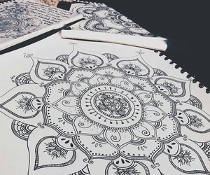 mandala, drawing, and indie image