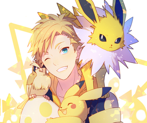 Spark, anime, and pikachu image