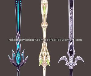 art, weapon, and fantasy image