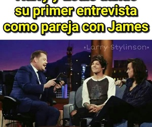 larry, james corden, and stylinson image