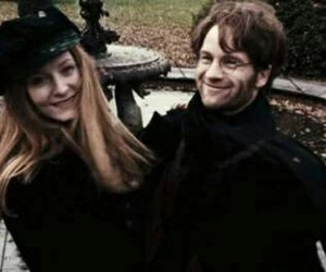 harry potter, james potter, and lily potter image