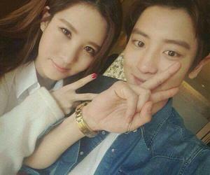 exo, seohyun, and chanyeol image