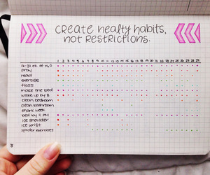 bullet journal and habits image