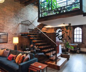 apartment, wooden, and brick image