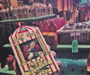 harry potter, jelly beans, and london image