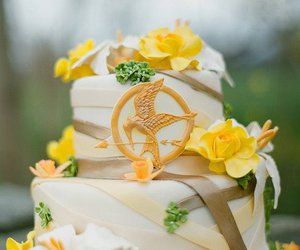 cake, the hunger games, and wedding image