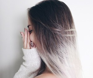 hair, ombre, and nails image