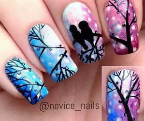 nails, bird, and tree image