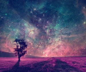 stars, galaxy, and tree image