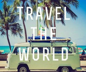 bus, sunny days, and travel the world image