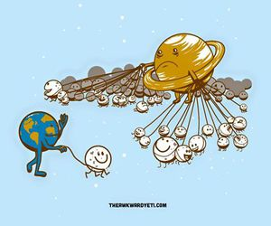 earth, moon, and funny image