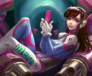 anime girl, games, and illustration image