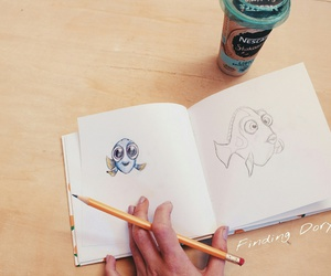 disney, dory, and drawings image