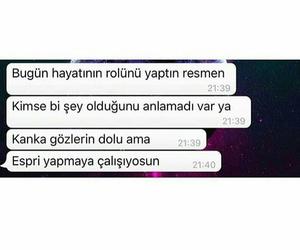 üzgün, söz, and whatsapp image