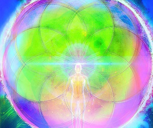 luminous, sacred geometry, and ascended image