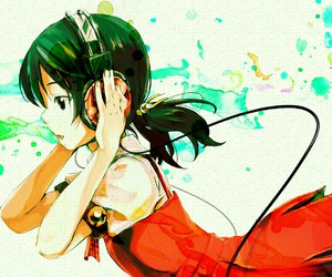 vocaloid, anime, and headphones image