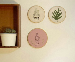 deco, plants, and vintage image