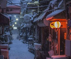 japan, snow, and asia image