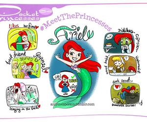 ariel, disney, and pocket princesses image