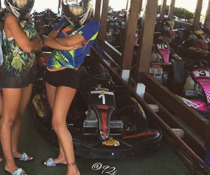 friendship, sister, and karting image