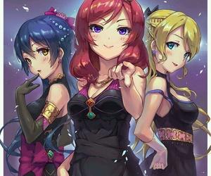 love live!, eli ayase, and maki nishikino image